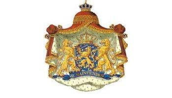 荷兰国徽下部嵌有图片