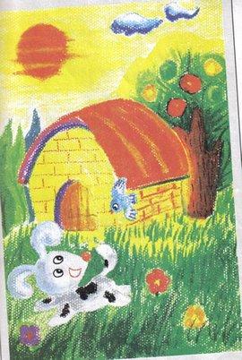 动物跳舞儿童画