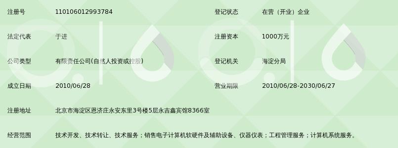 北京信测科有限公司企业信用信息