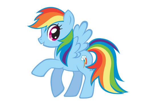 可爱彩虹小马图片