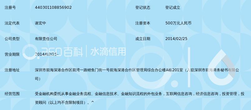深圳前海云筹互联网金融服务有限公司
