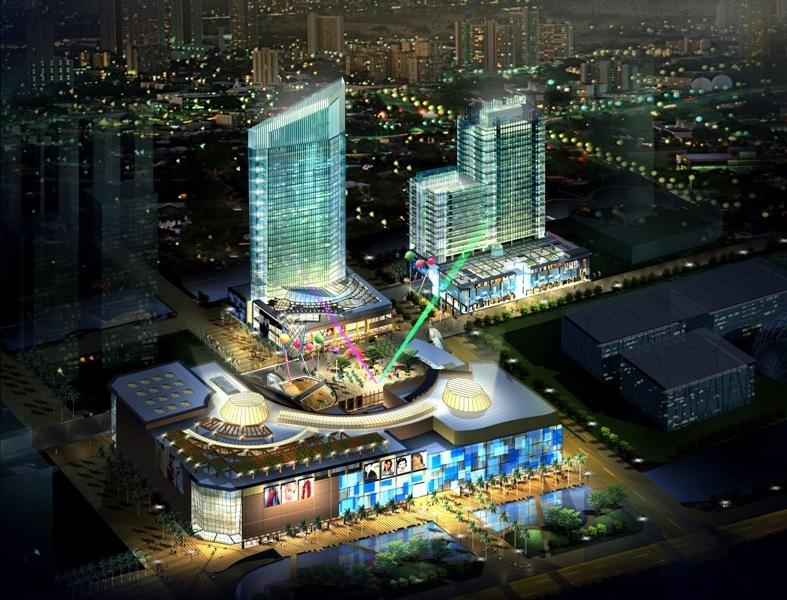 该项目由美国凯里森建筑事务所负责方案设计,深圳市城脉建筑设计有限
