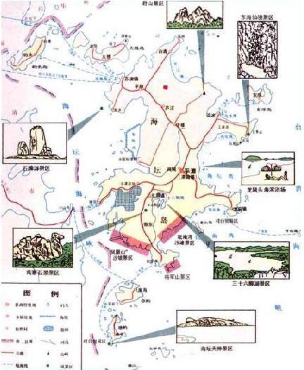 平潭岛景区地图