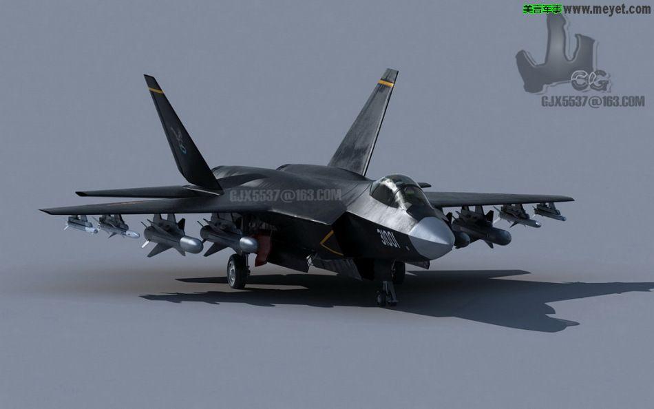 歼-31是沈阳飞机工业集团研制的第四代双发中型隐形战斗机,其采用双