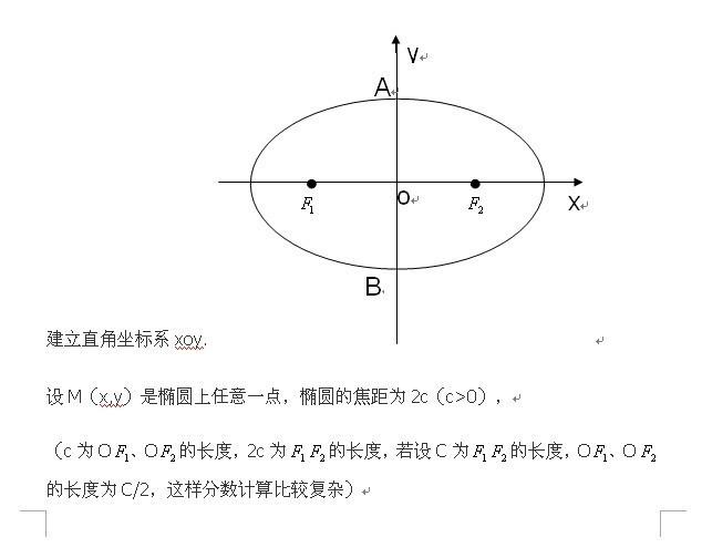 椭圆画法步骤 和说明
