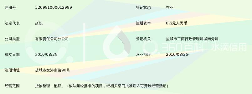 苏州万隆华宇物流有限公司盐城分公司_360百