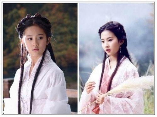 10】刘亦菲 2003《天龙八部》饰王语嫣;2006《神雕图片