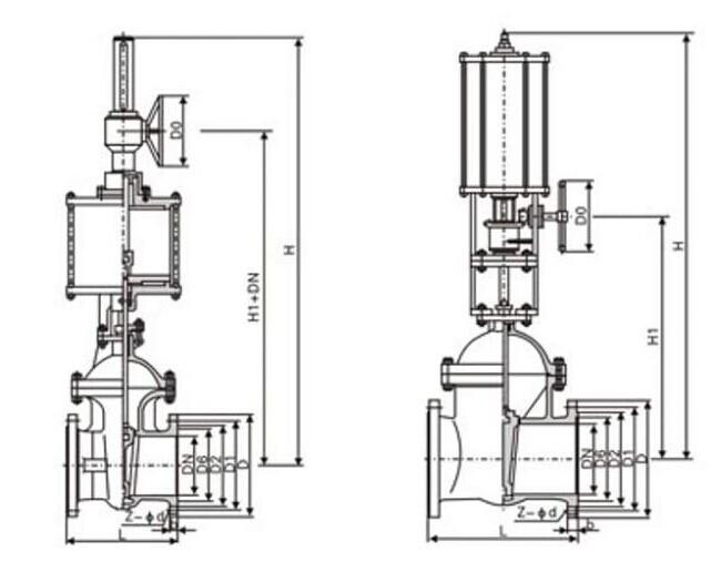 气动闸阀结构图