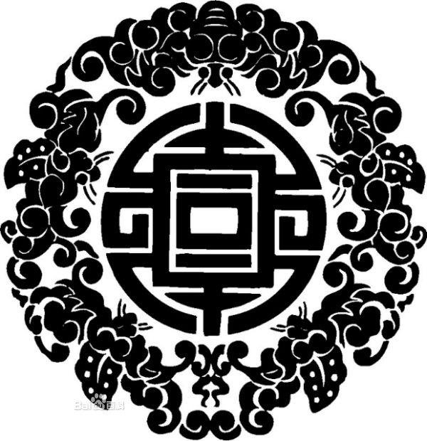 平安名片设计素材 花纹