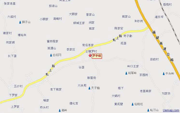 瑞安市曹村镇地图