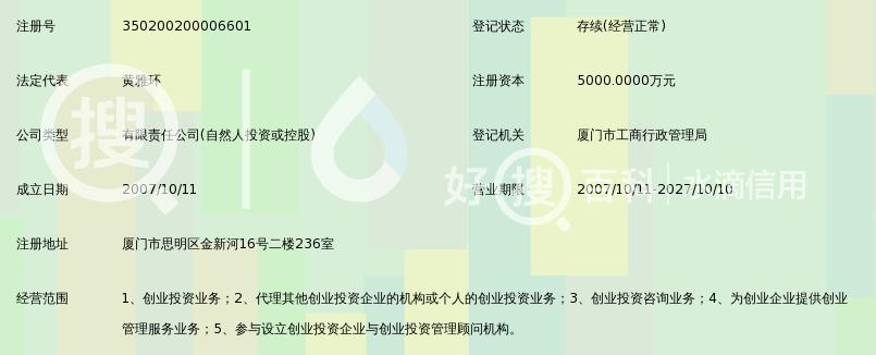 厦门鑫东森创业投资有限公司图片