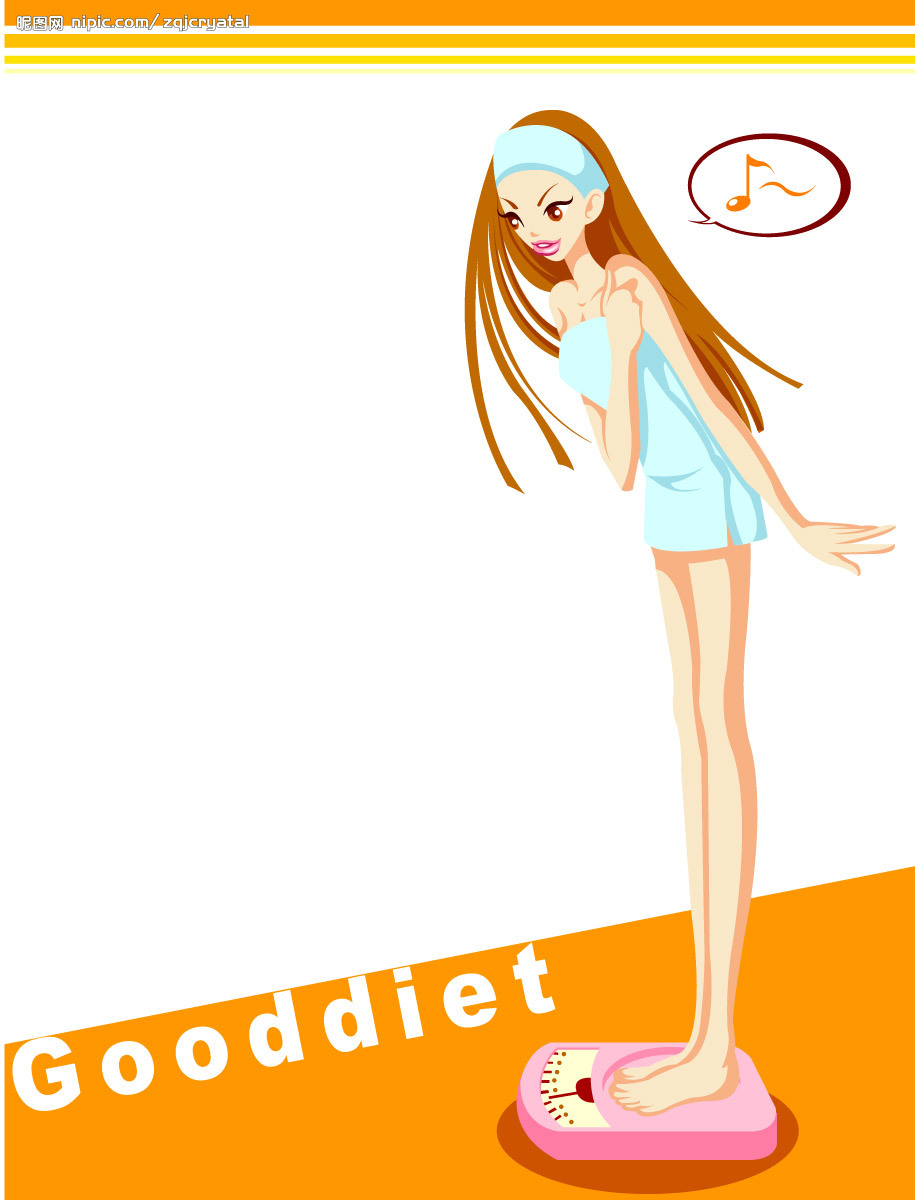 减肥对比矢量图
