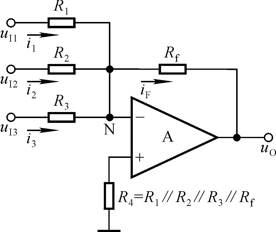 由式可知为同相比例运算电路