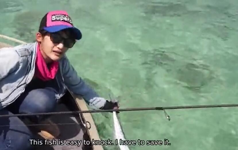 V垂钓:泰国妹子路亚针鱼 钓鱼